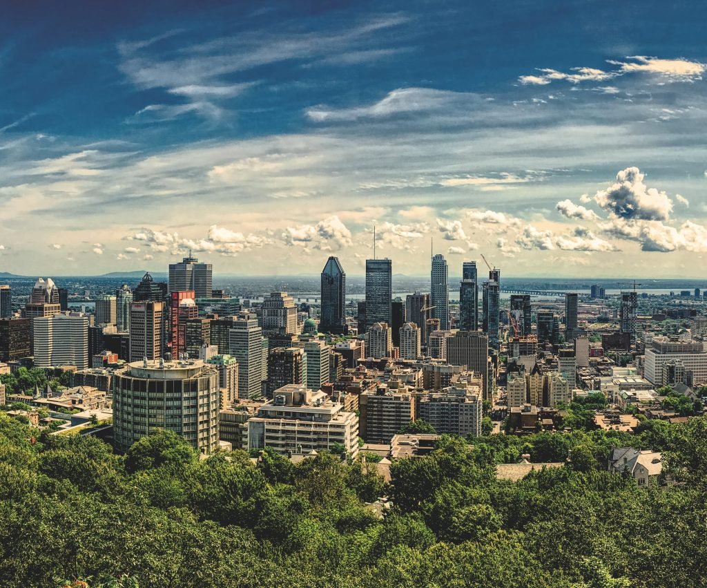 Montreal skyline from Mont Royal viewpoint