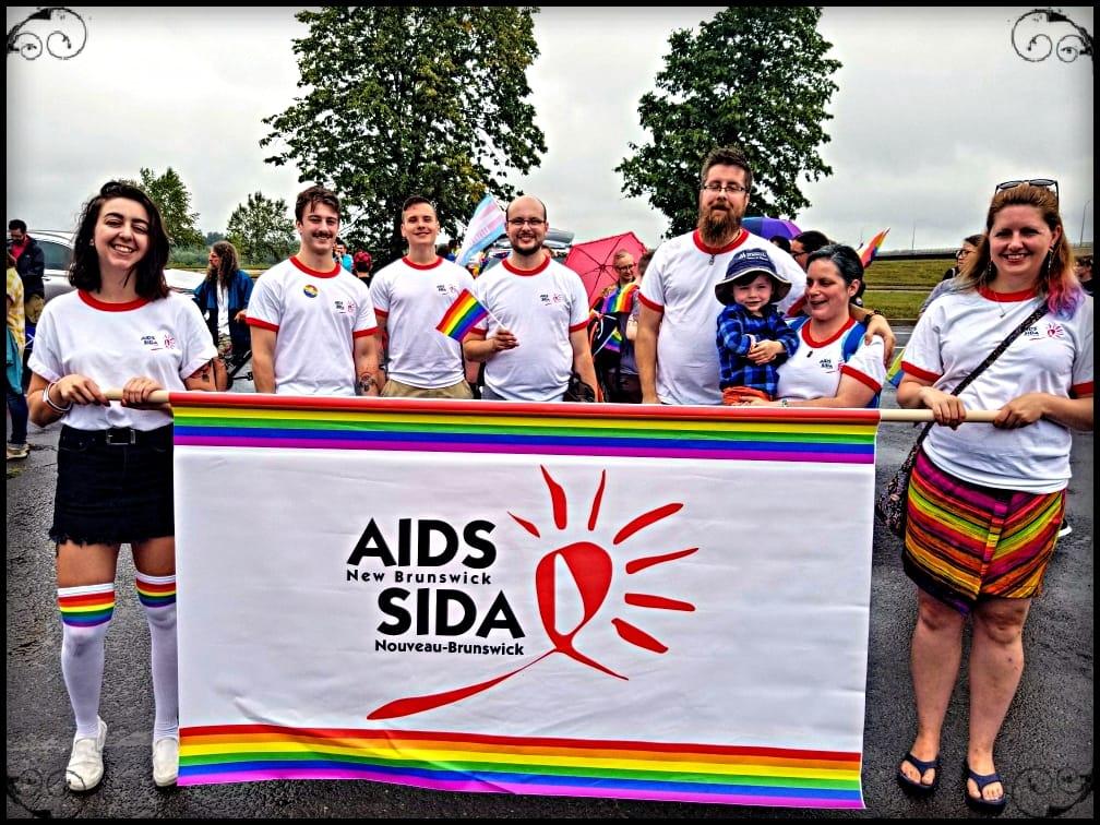 Group shot of staffers from AIDS New Brunswick