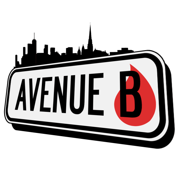 Square logo reading Avenue B