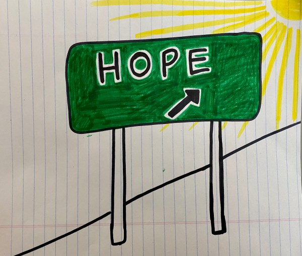 Hand drawn image of hope sign