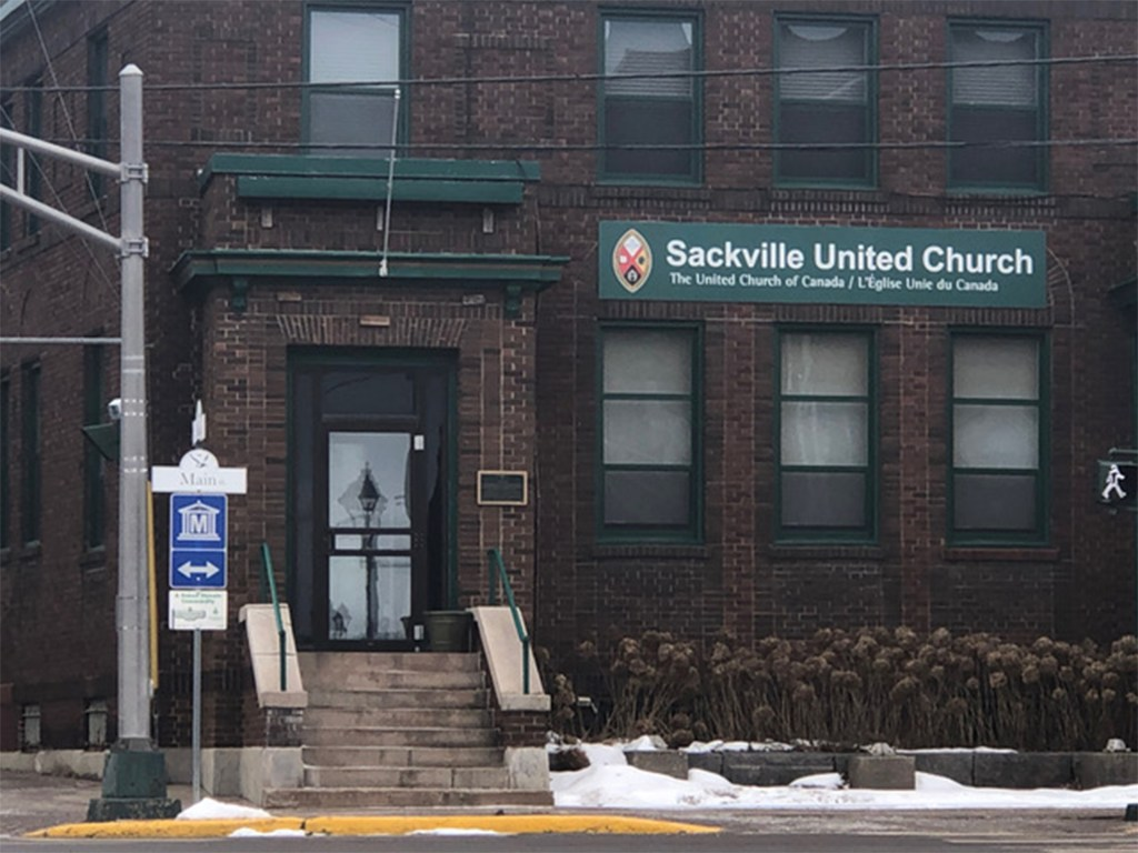 Exterior of Sackville United Church | Harm reduction and religion