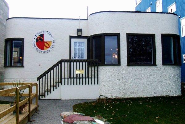 White building beloning to Bloodties Yukon | Getting to Tomorrow Yukon