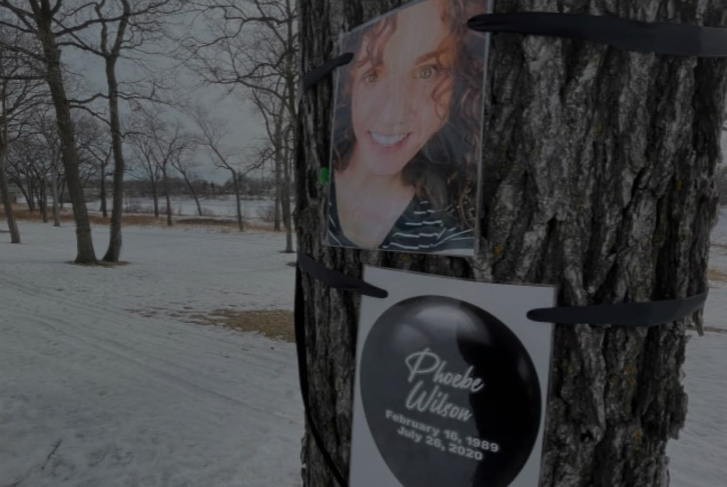 Image of an overdose victim on a tree