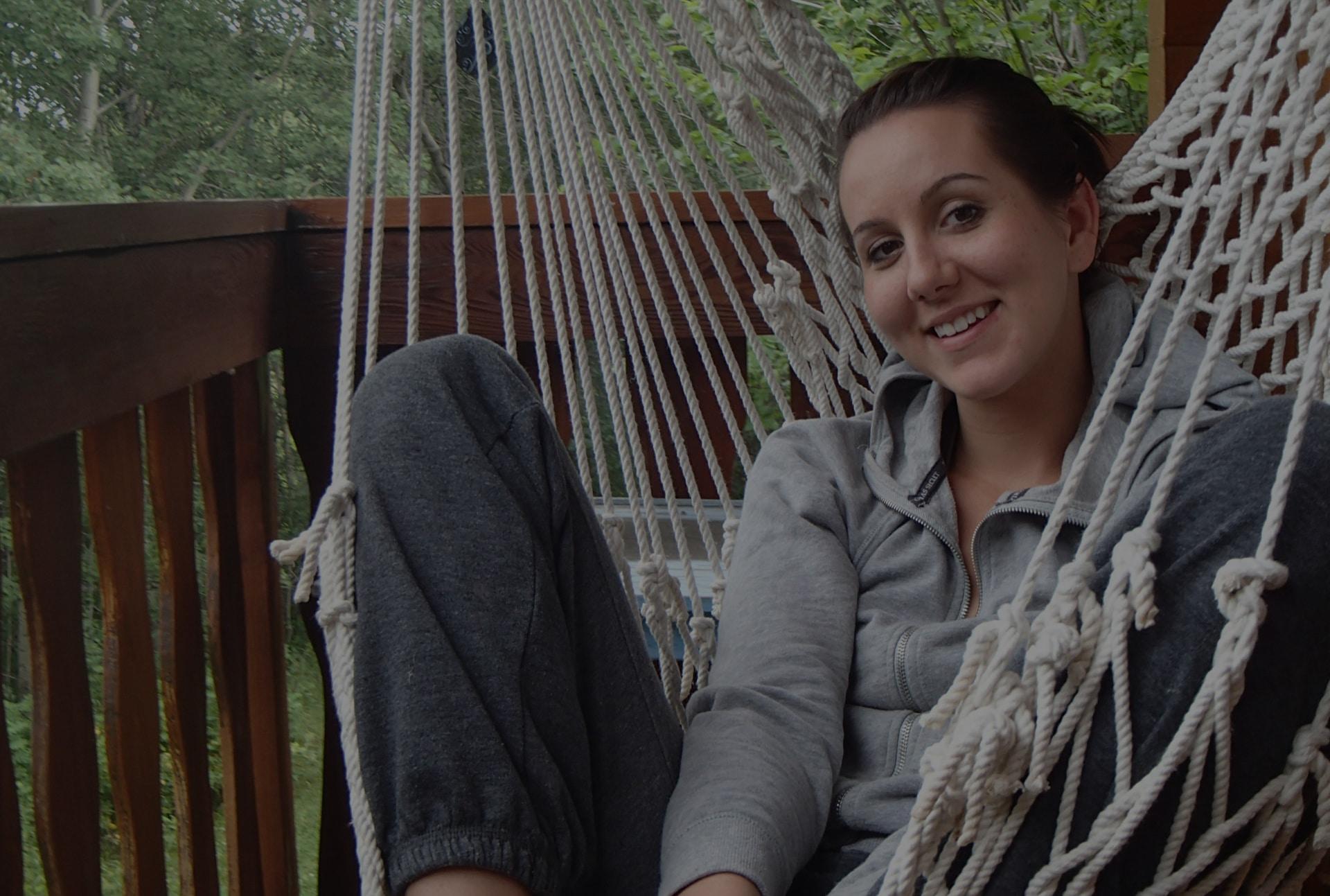 Renee in hammock