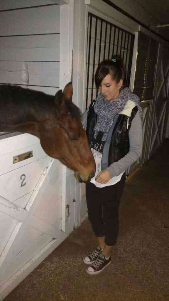 Renee with a horse