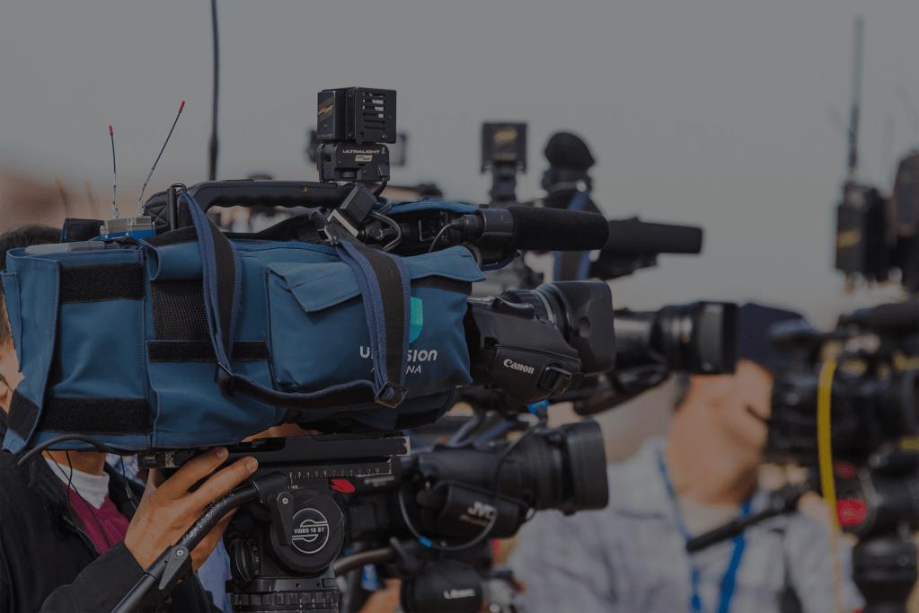TV news cameras