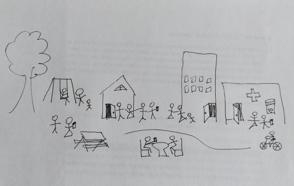 Illustration of a prosperous neighbourhood
