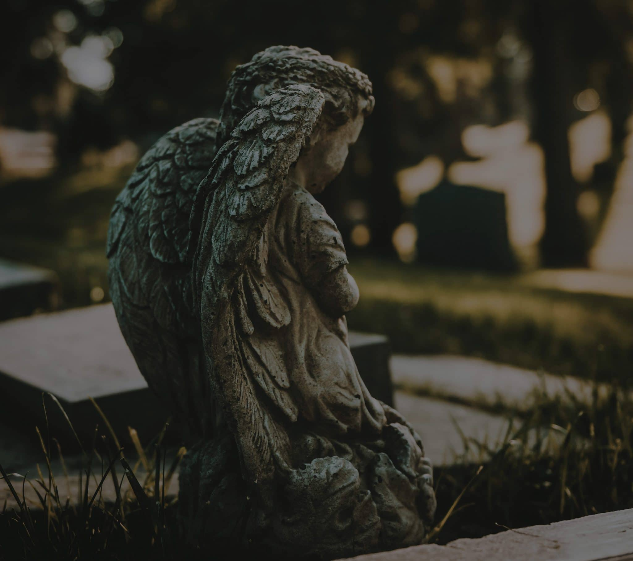 Angel statue in a cemetary