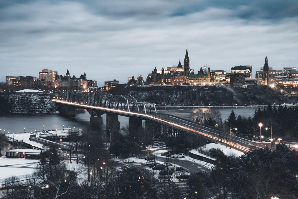 Bridge connecting Gatineau with Ottawa
