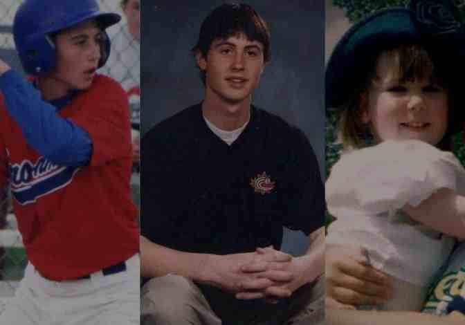 Tyler O'Reilly at various points in his life